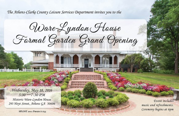 Ware-Lyndon House Grand Opening Graphic